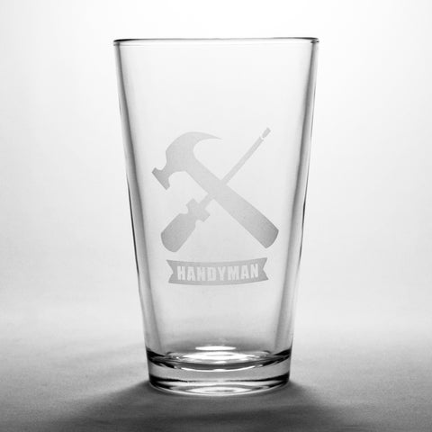 handyman tool pint glass
