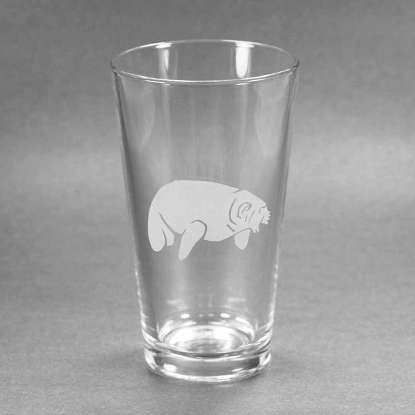 Manatee pint glass by Bread and Badger