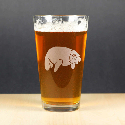 Manatee Pint Glass (Retired)