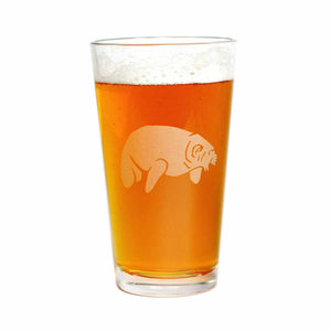 Manatee beer glass by Bread and Badger