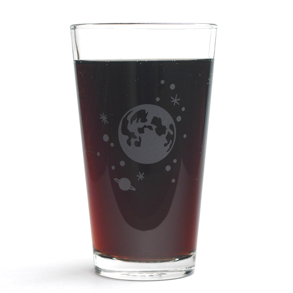 Moon and Stars pint glass by Bread and Badger