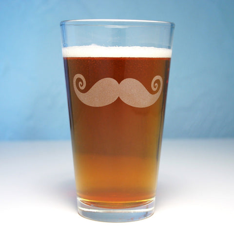 Mustache Pint Glass (Retired)