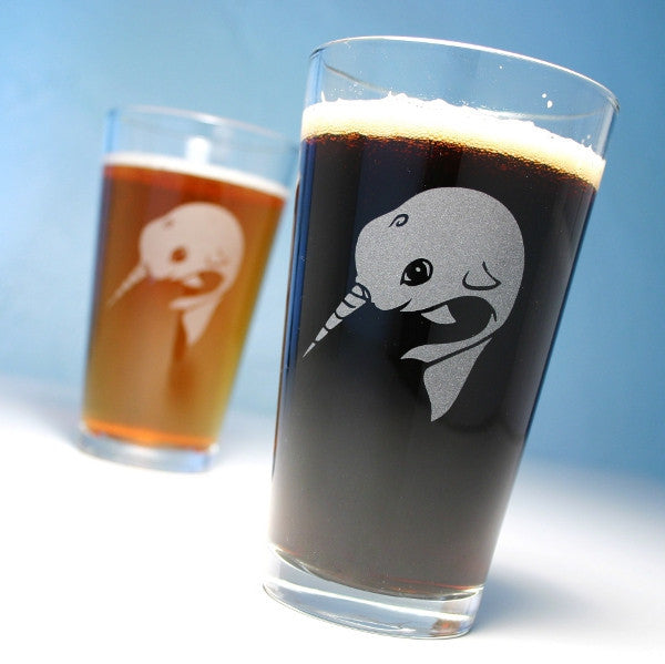 narwhal pint glasses