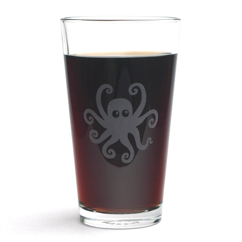 Octopus beer glass by Bread and Badger