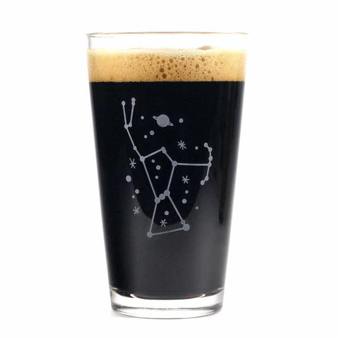orion constellation pint glass by Bread and Badger