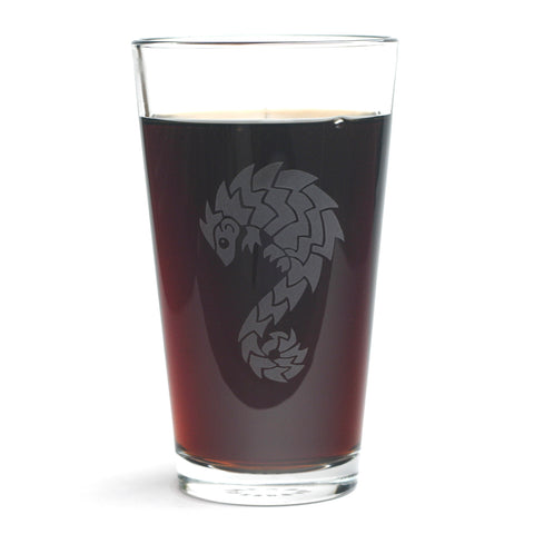 Pangolin Pint Glass by Bread and Badger