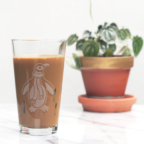 Penguin Beer Glass by Bread and Badger