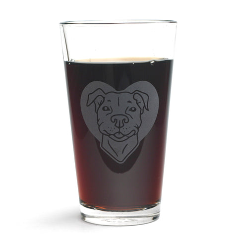 Pit Bull pint glass by Bread and Badger