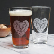 Pit Bull Dog Pint Glass (Retired)