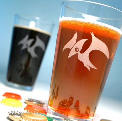 Pterodactyl pint glasses