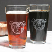 Pug Dog Pint Glass (Retired)