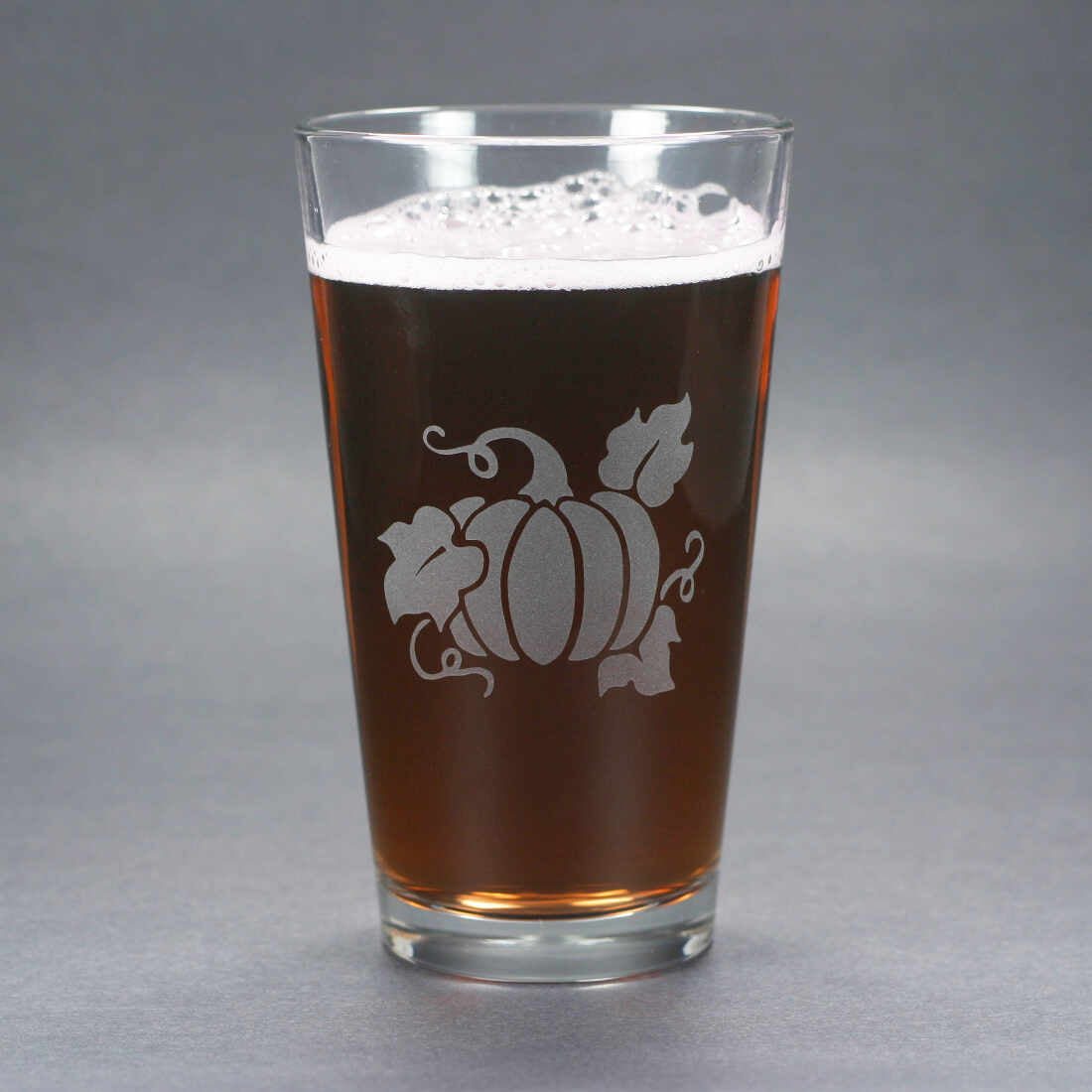 pumpkin spice beer pint glass by Bread and Badger