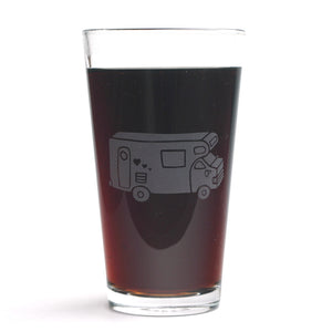 RV Camper Van beer glass by Bread and Badger