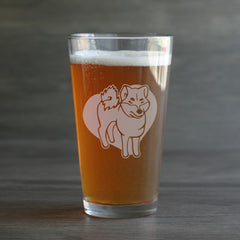Shiba Inu Dog Pint Glass (Retired)