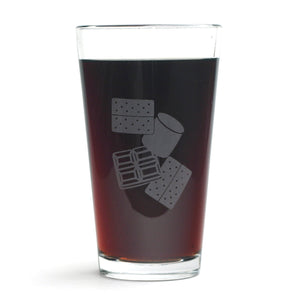 S'more Pint Glass by Bread and Badger