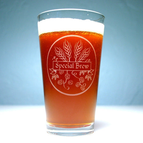 homebrew etched pint glass