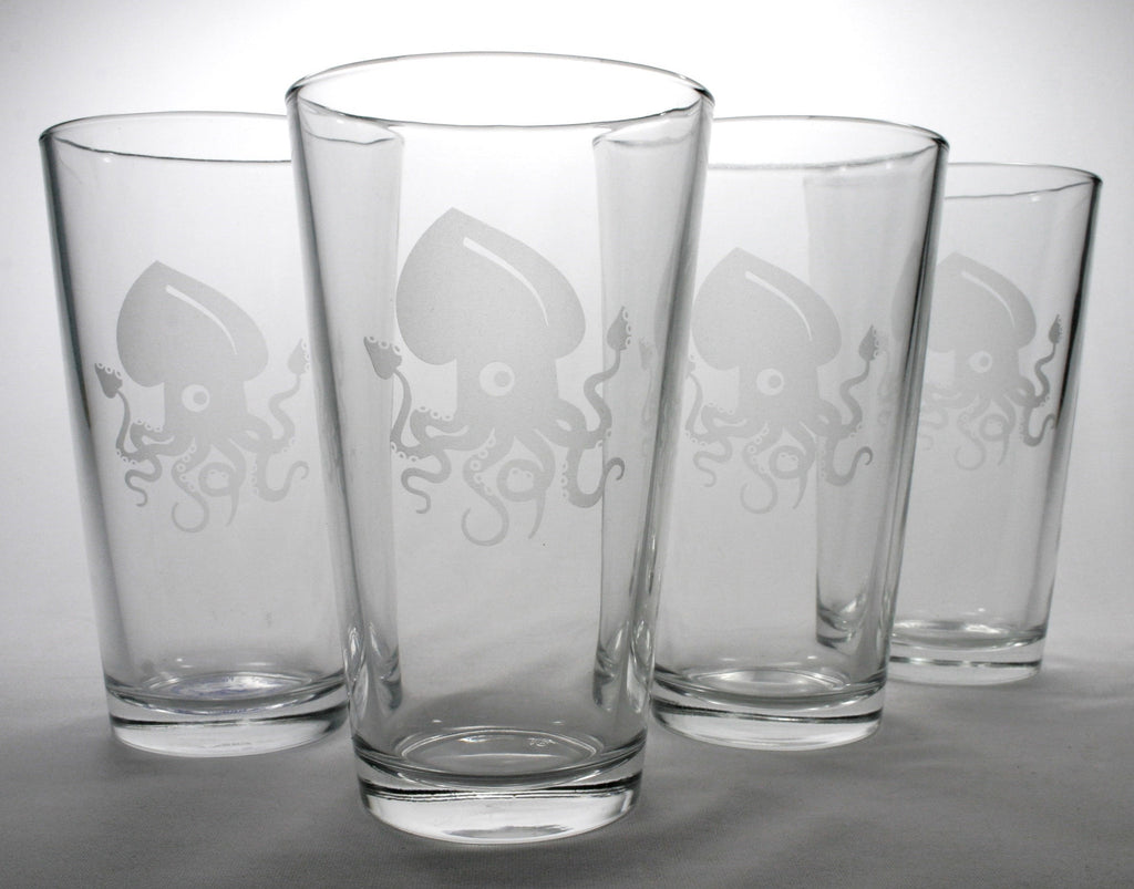 squid beer pint glasses