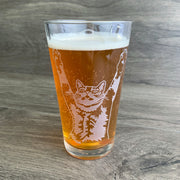 Stretch Cat Beer Glass
