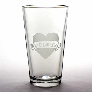 Tattoo Heart Pint Glass