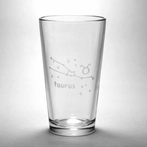 Taurus Zodiac Constellation Pint Glass (Retired)