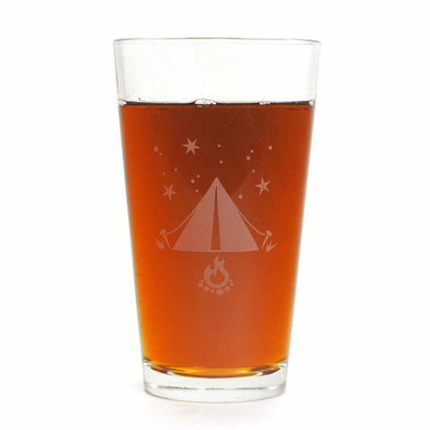 Tent Pint Glass
