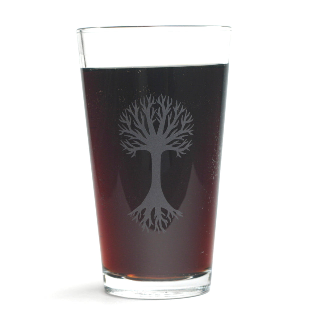 Tree pint glass by Bread and Badger