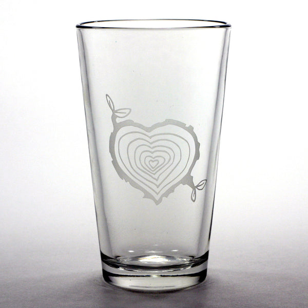 nature lover tree stump pint glass