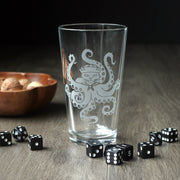 Octopus Cat sailor with tentacles pint glass