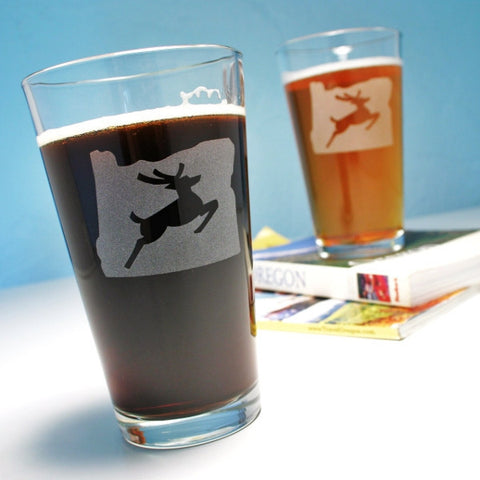 OR stag pint glasses