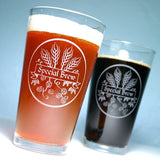 homebrew beer pint glasses