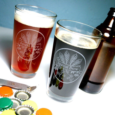 home brew pint glasses