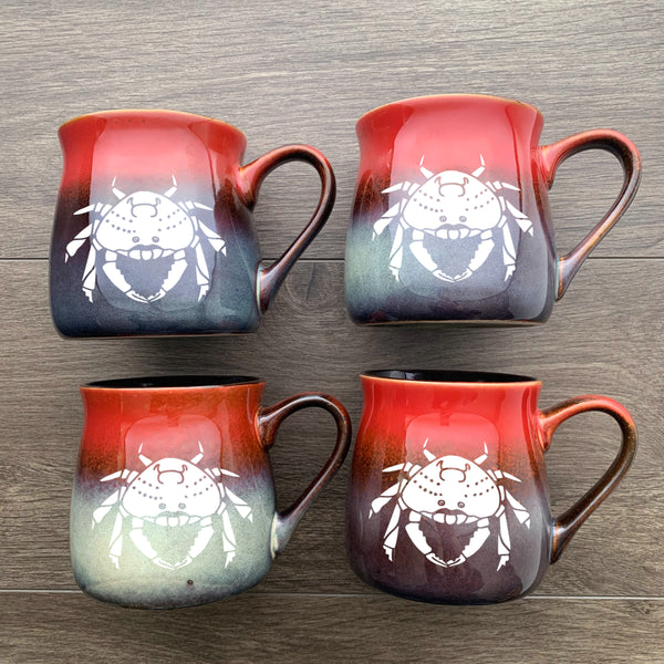 Crab Mugs in Fiery Sunset by Bread and Badger