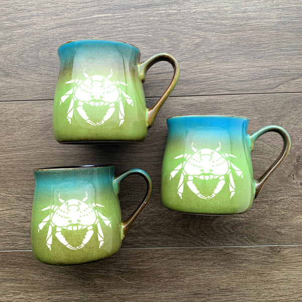 Crab Mugs in Meadow by Bread and Badger