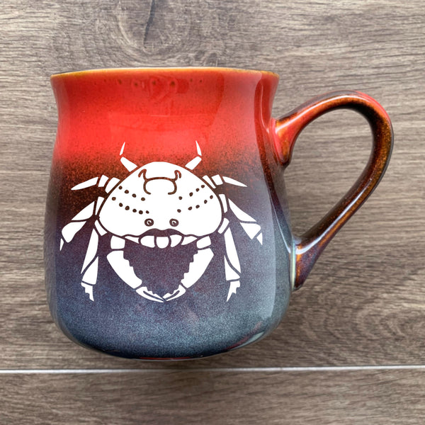 Crabby Mug in Fiery Sunset by Bread and Badger