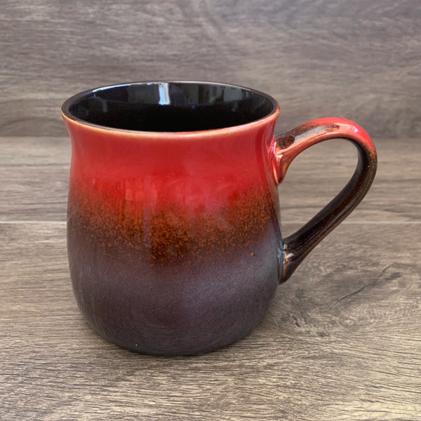 Fiery Sunset rustic mug, engraved by Bread and Badger