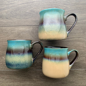 Lakeshore Teal rustic mug color samples