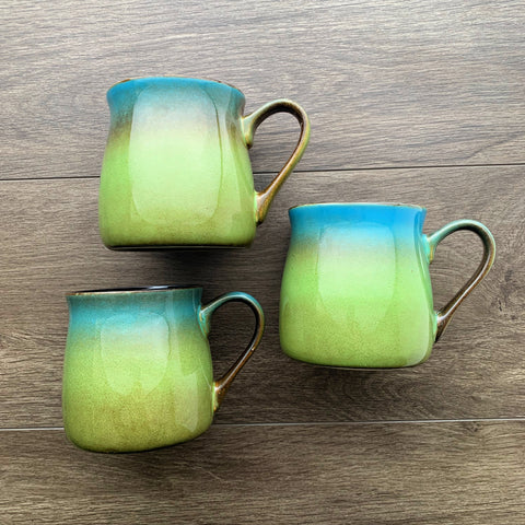 Meadow Green-Blue rustic mug color samples