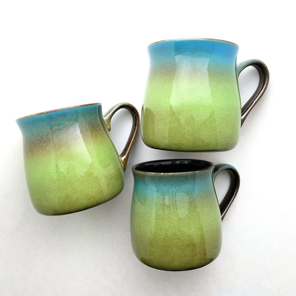 Meadow Green-Blue rustic mug, color samples