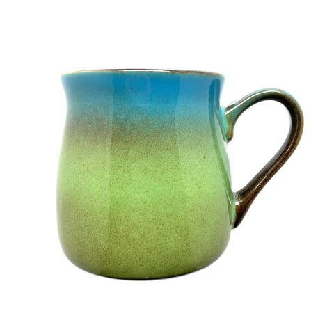 Meadow Green-Blue rustic mug, engraved by Bread and Badger