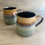 Painted Desert Brown rustic mugs, engraved by Bread and Badger