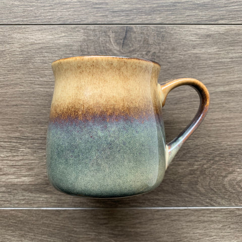 Painted Desert Brown rustic mug, engraved by Bread and Badger