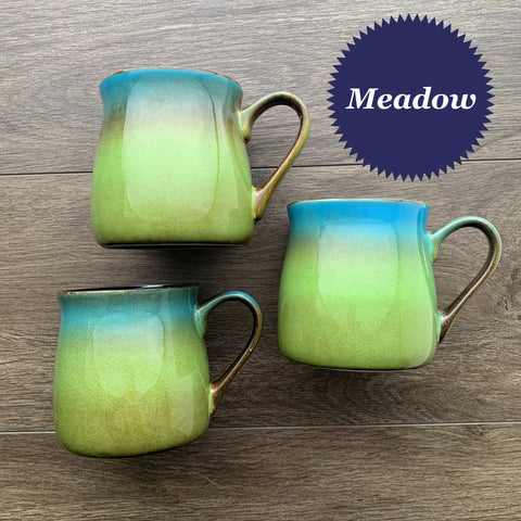 Meadow rustic mug color samples
