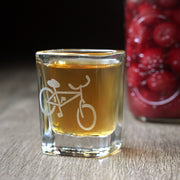 Bicycle Shot Glass - 2oz, Square