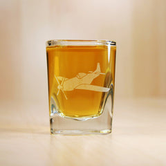 military airplane shot glass
