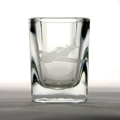Airplane Shot Glass - P51D Mustang