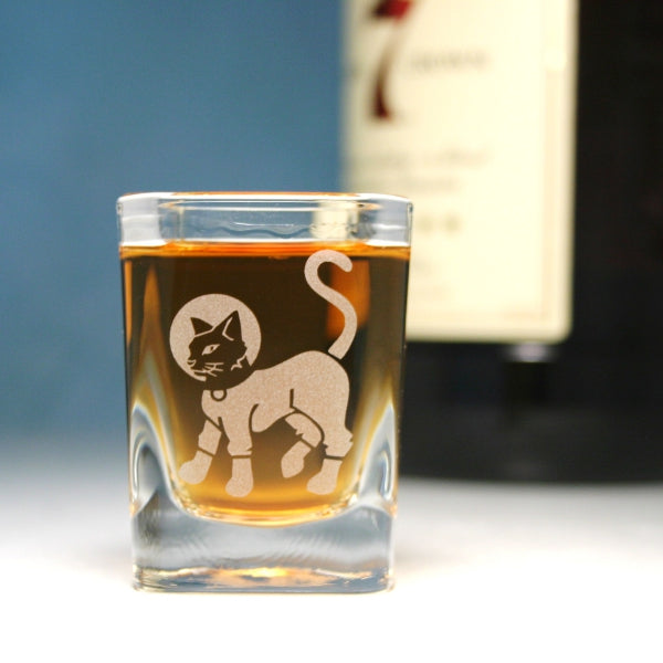 astrocat shot glass