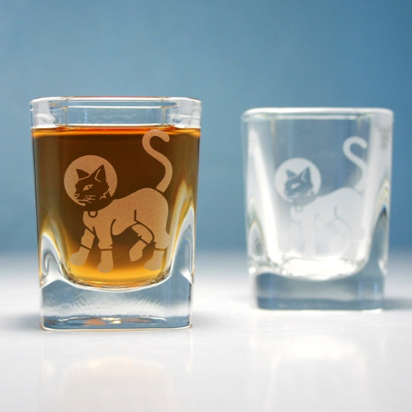 astrocat square shot glasses