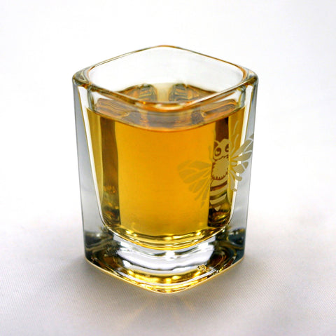bee shot glass