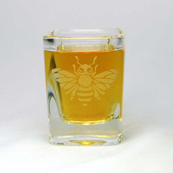 honey bee shot glass