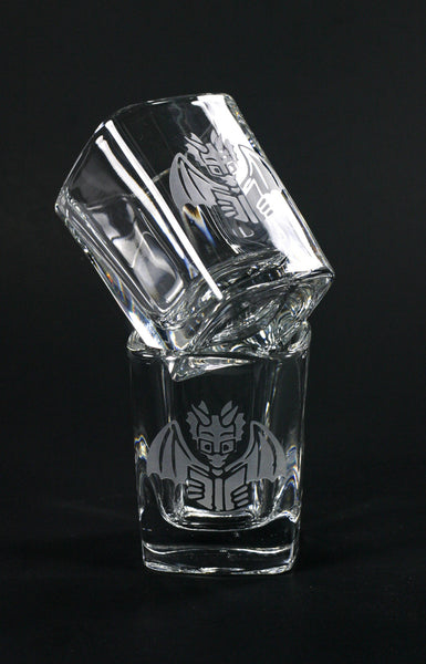 Book Dragon nerdy fantasy shot glasses